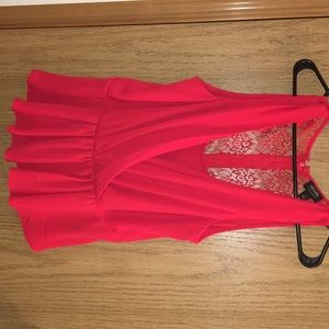 Nicole by Nicole Miller collection,red dress top